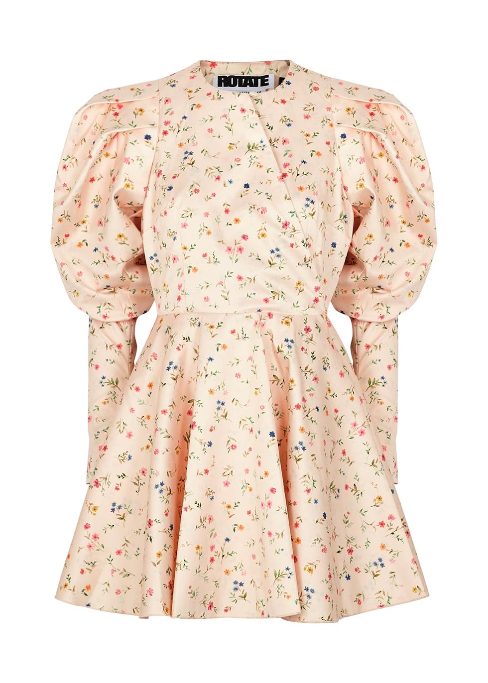 Pauline floral-print satin mini dress