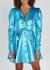 Emma blue lamé mini dress - ROTATE Birger Christensen