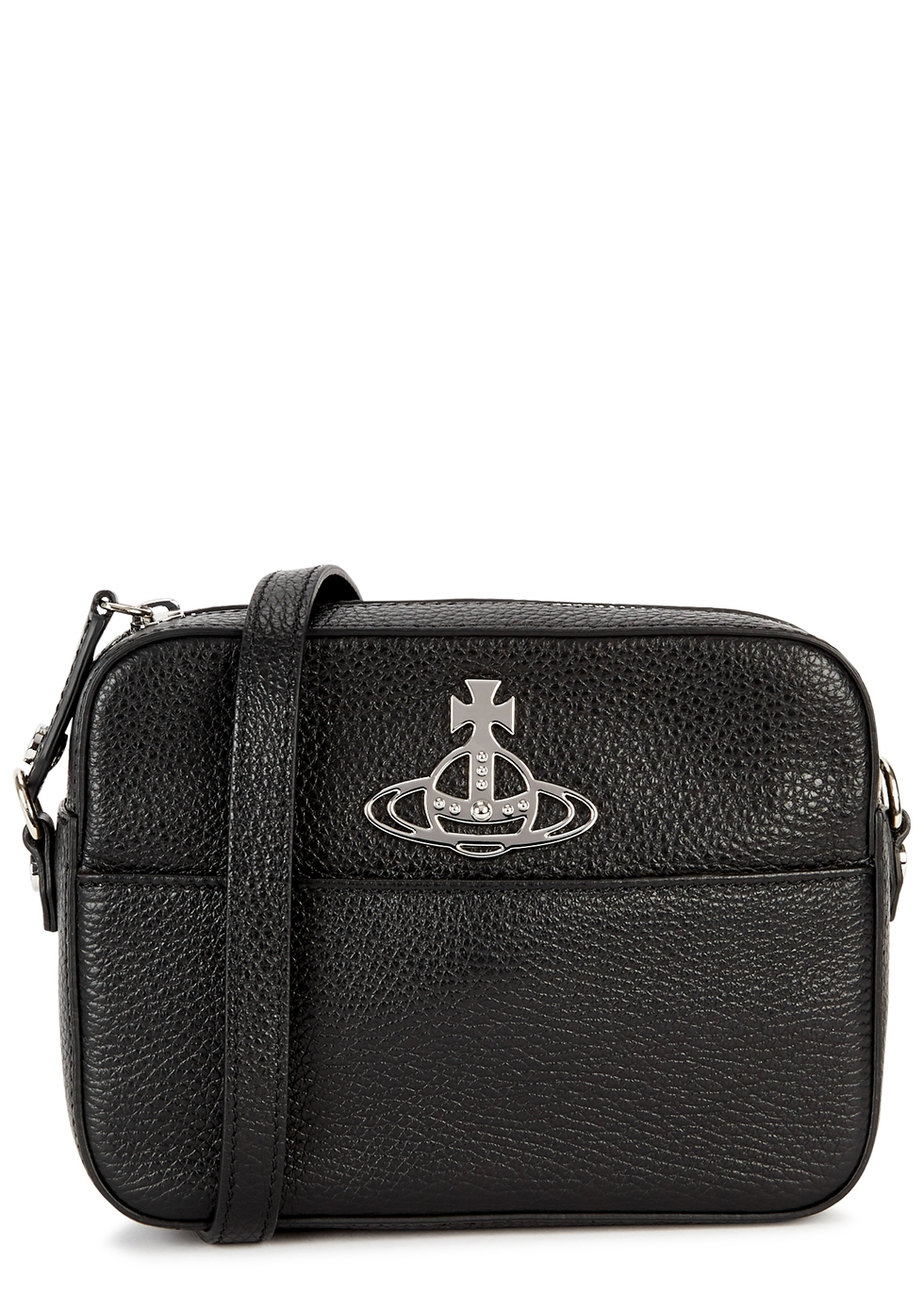 Johanna black leather cross-body bag