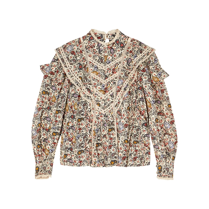 Etoile Isabel Marant REIGN PRINTED COTTON BLOUSE
