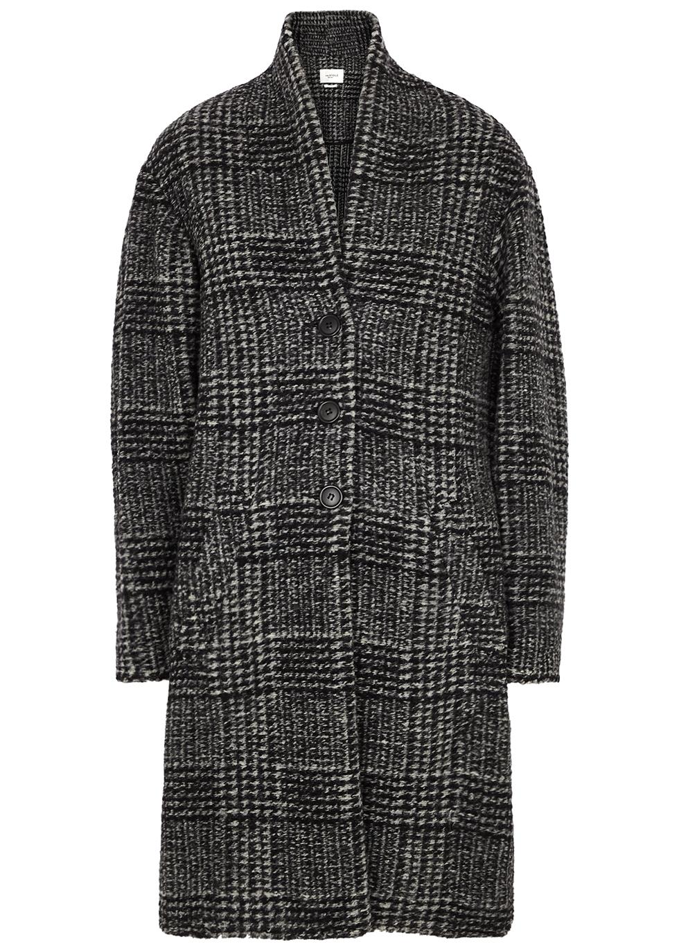 Gabriel checked wool-blend coat