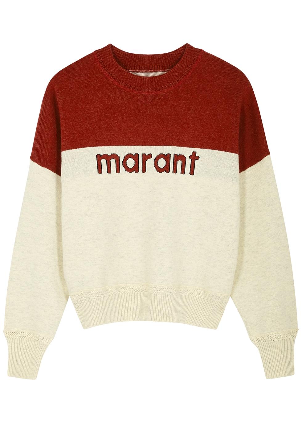 Kaoti logo-intarsia knitted jumper