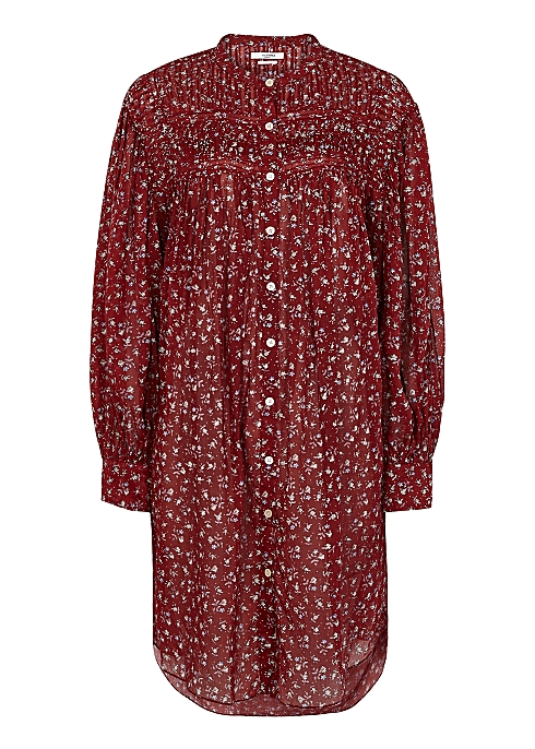Plana red floral-print cotton dress - Isabel Marant Étoile