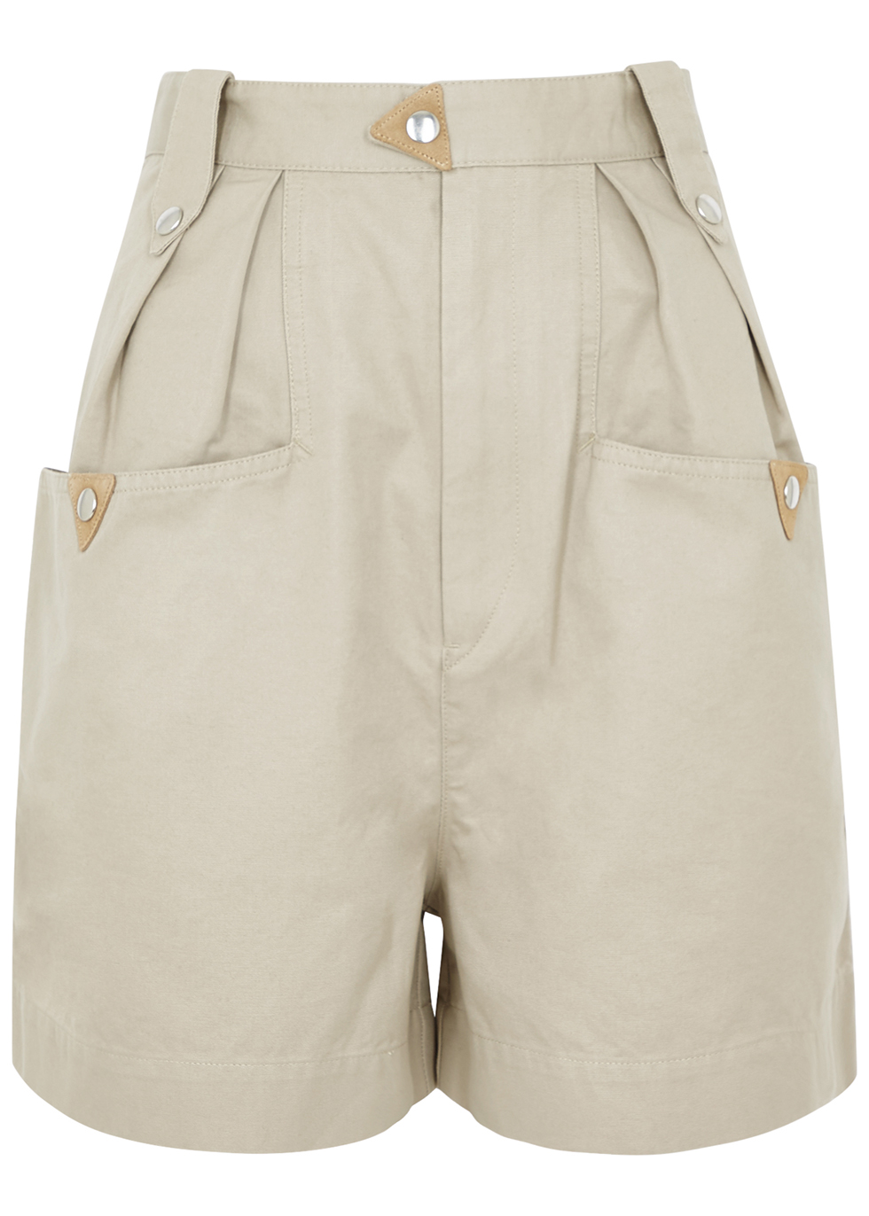 Palino ecru cotton shorts