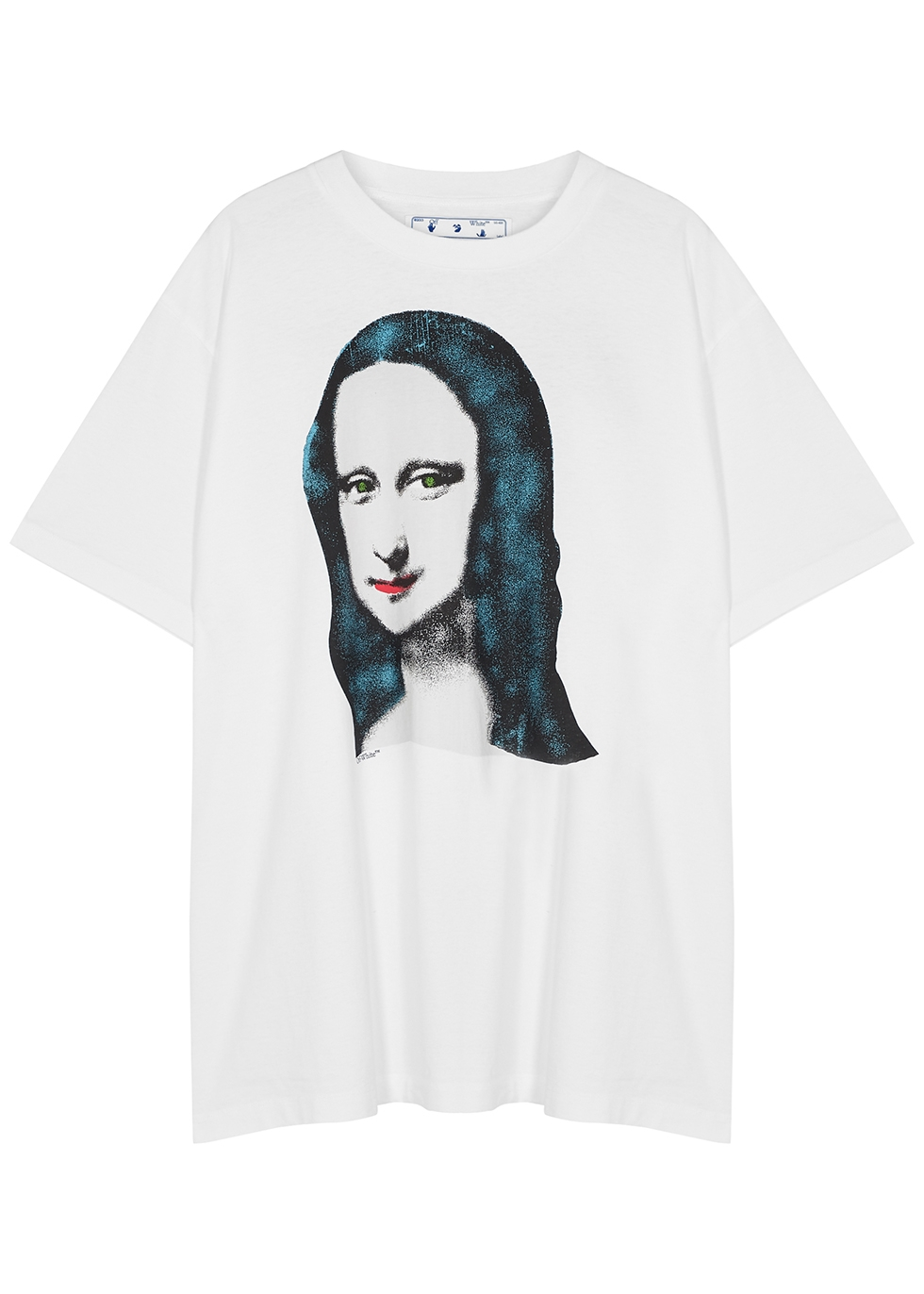 Mona Lisa white printed cotton T-shirt