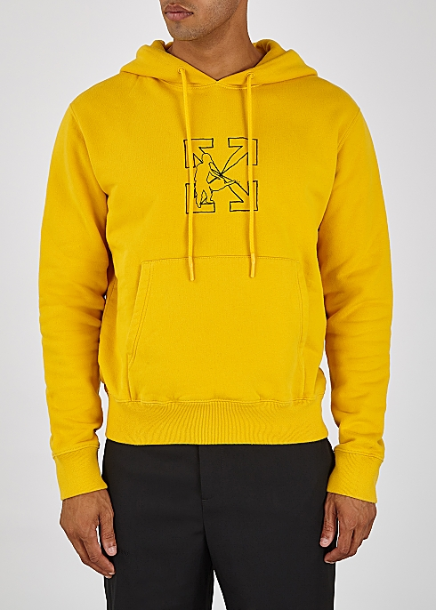 Logo Workers printed hooded cotton sweatshirt - Off-White