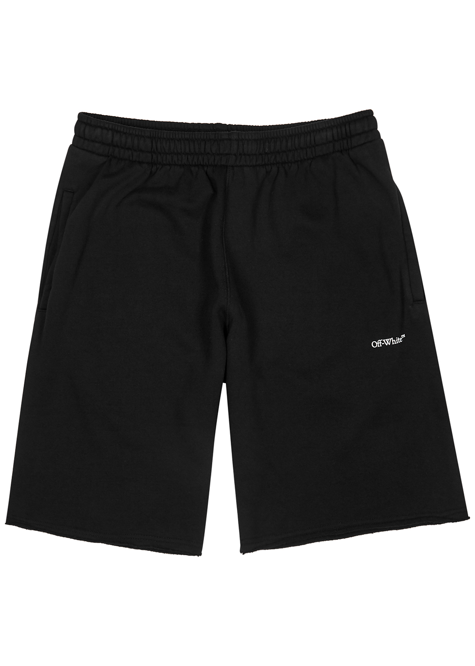 Stencil black cotton shorts