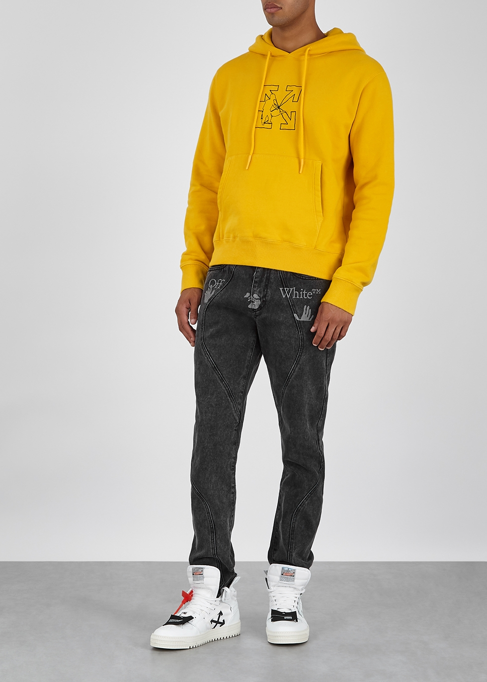 OFF WHITE Yellow Arrow Workers Slim Fit