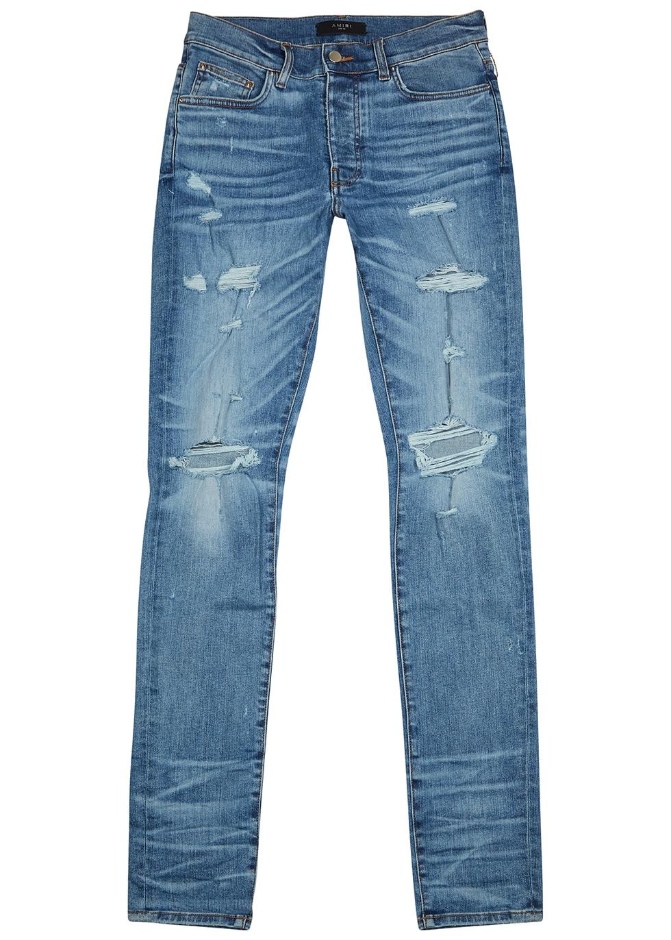 Thrasher Plus blue distressed skinny jeans