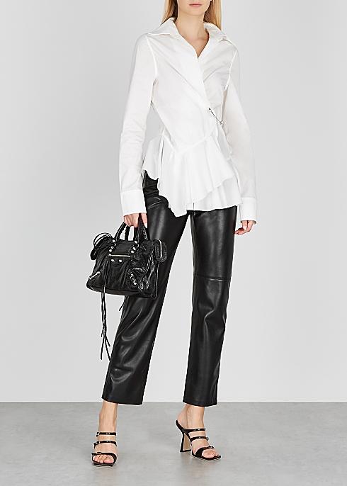 White embellished cotton shirt - MARQUES' ALMEIDA