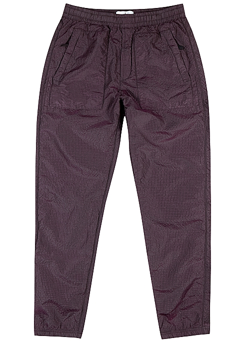 stone island seersucker pants grey