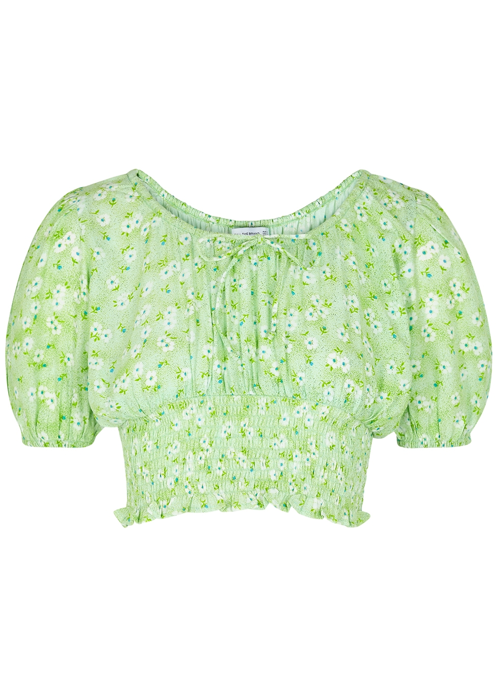 Anne Laure floral-print cropped top