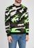 Camouflage-intarsia wool-blend jumper - Valentino
