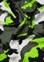 Green camouflage-print cotton T-shirt - Valentino