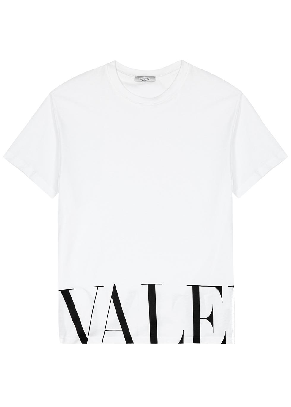 White logo-print cotton T-shirt