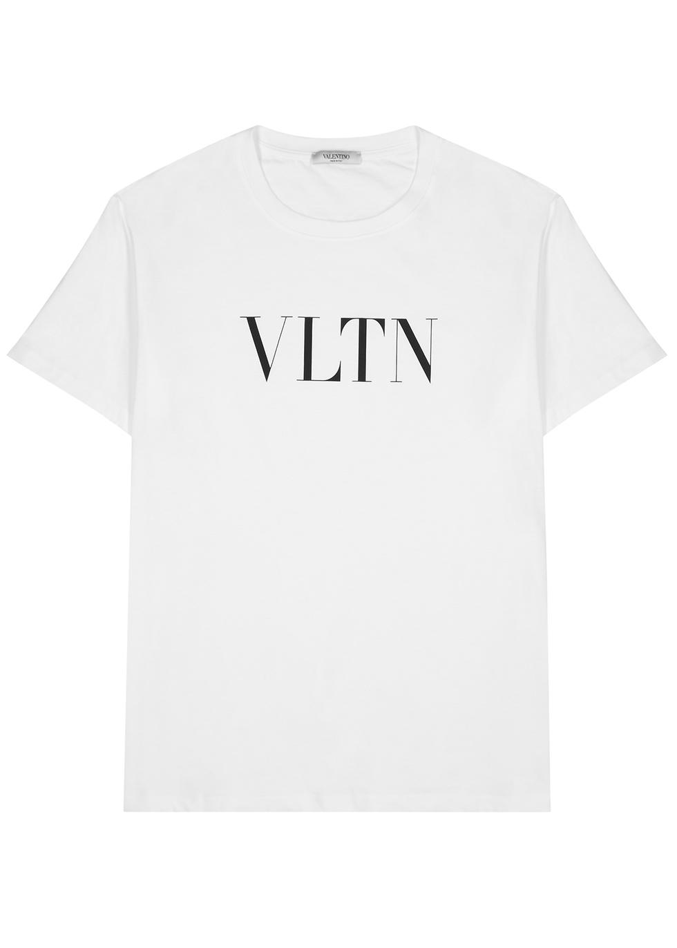 VLTN black cotton T-shirt