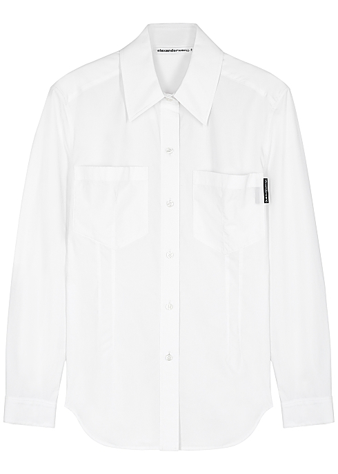 White cotton-poplin shirt - alexanderwang.t