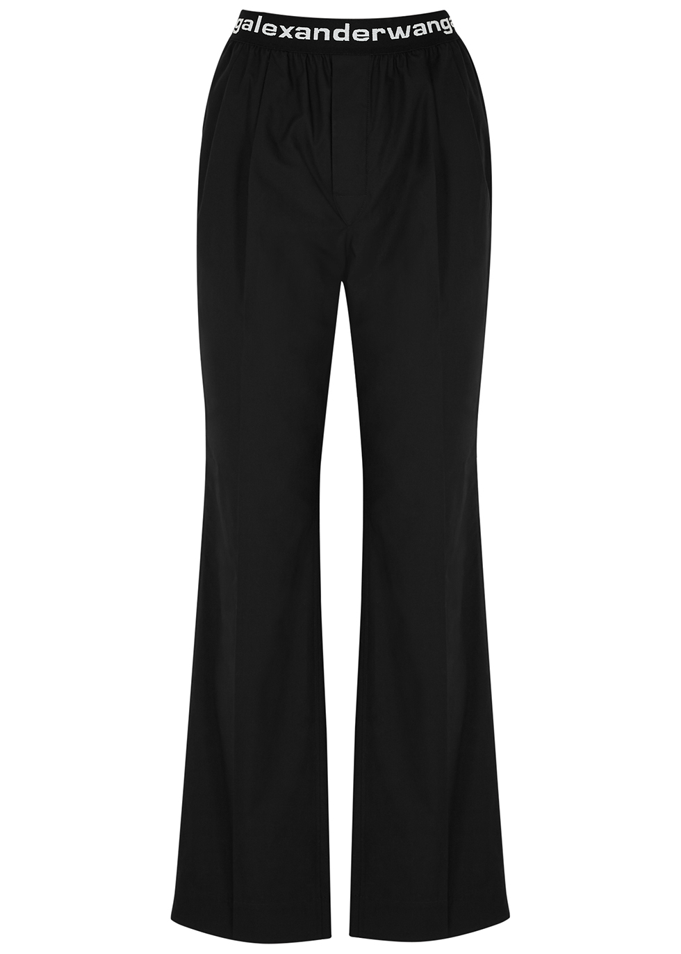 Black logo cotton trousers