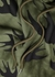 Army green swallow-print cotton sweatshirt - McQ Swallow