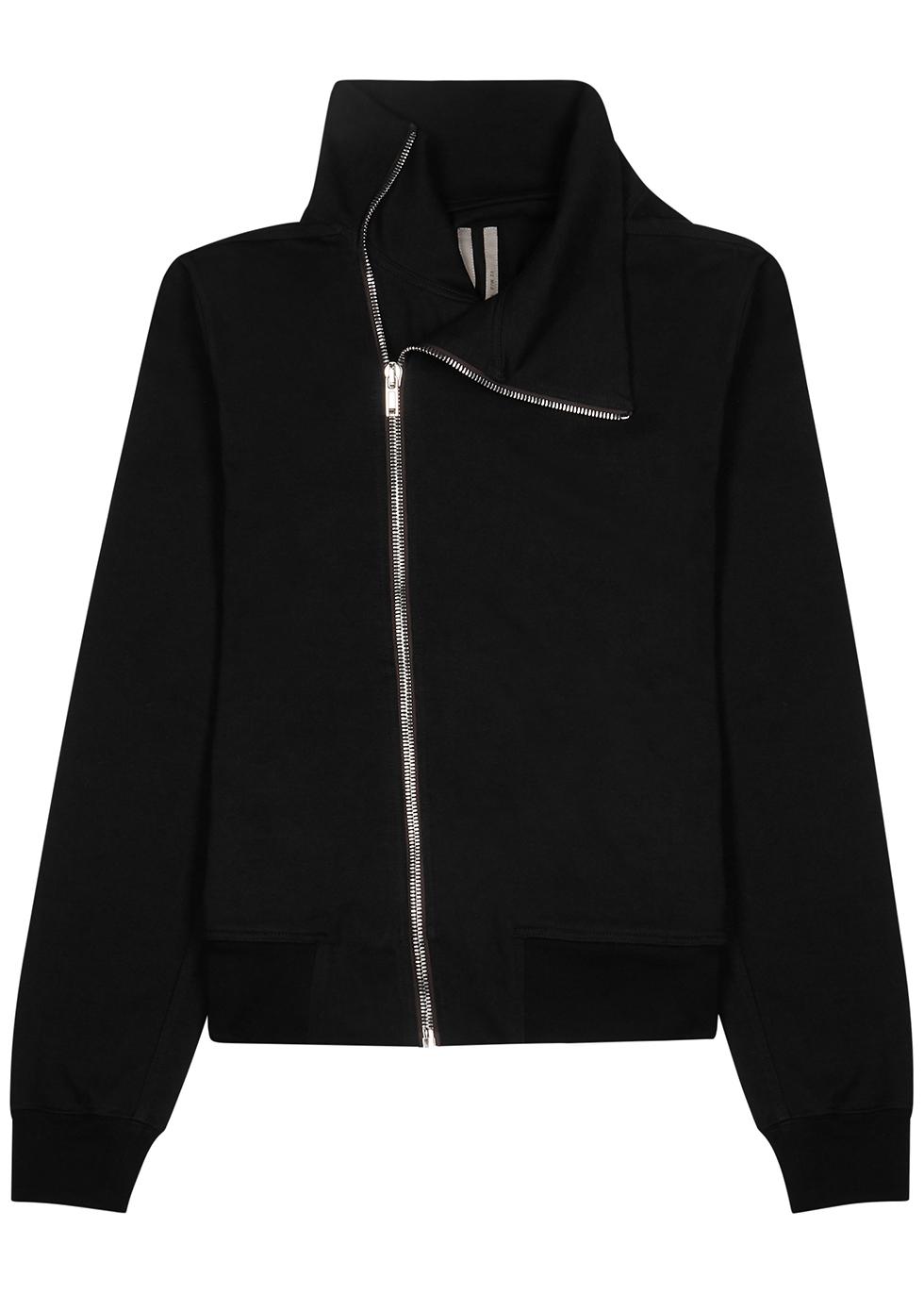 Black cotton track jacket