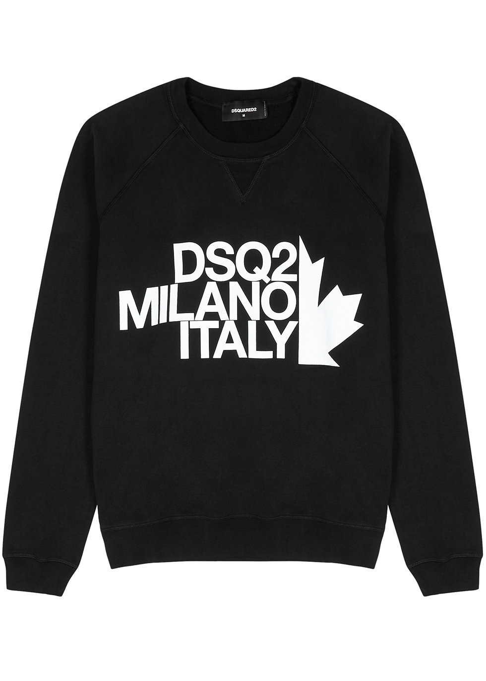 Black logo-print cotton sweatshirt