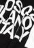 Black logo-print cotton sweatshirt - Dsquared2