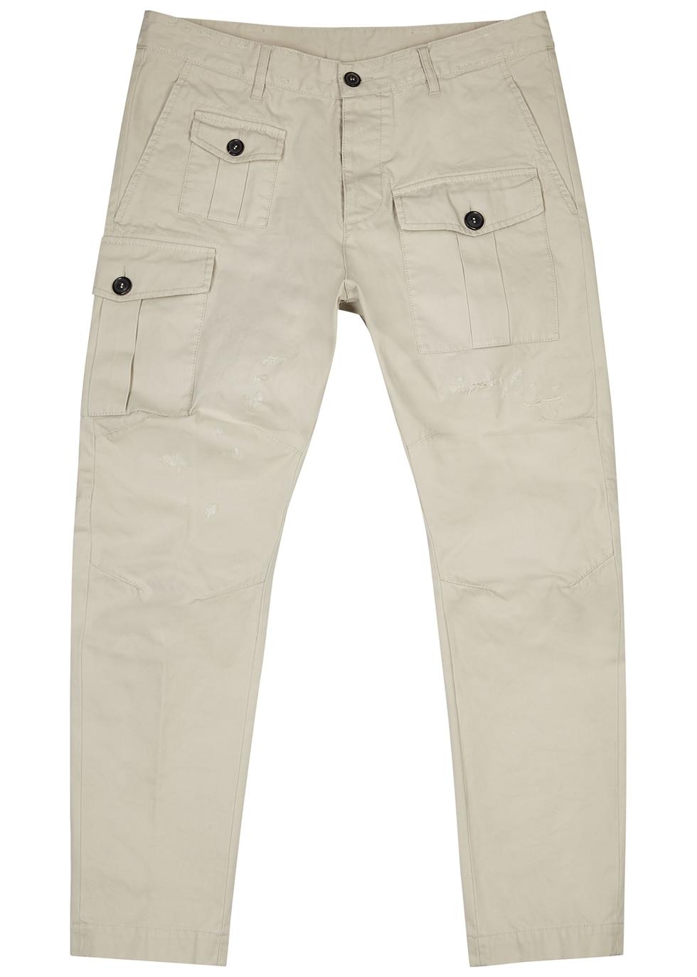 Sexy stone cotton-twill cargo trousers