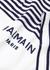 White striped cotton T-shirt - Balmain