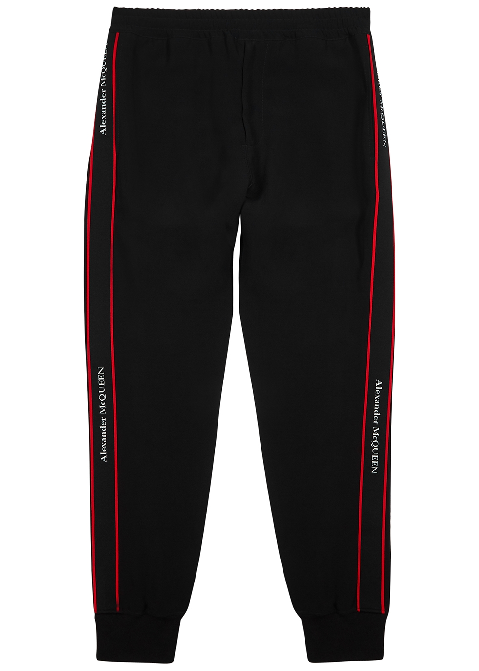 Black logo-trimmed jersey sweatpants