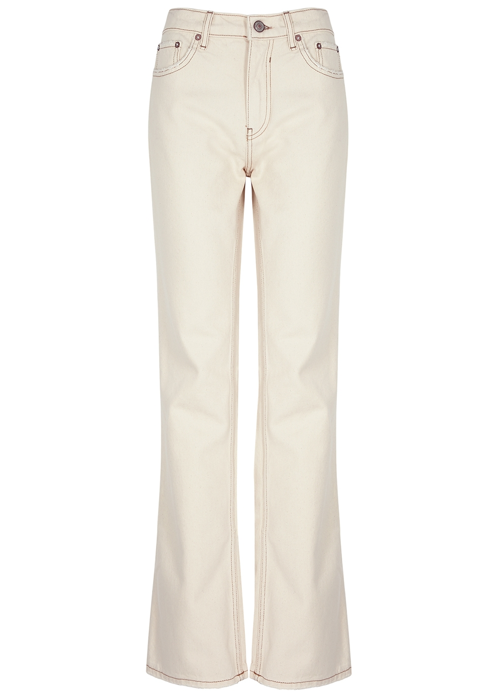 Laurel Canyon ecru flared jeans