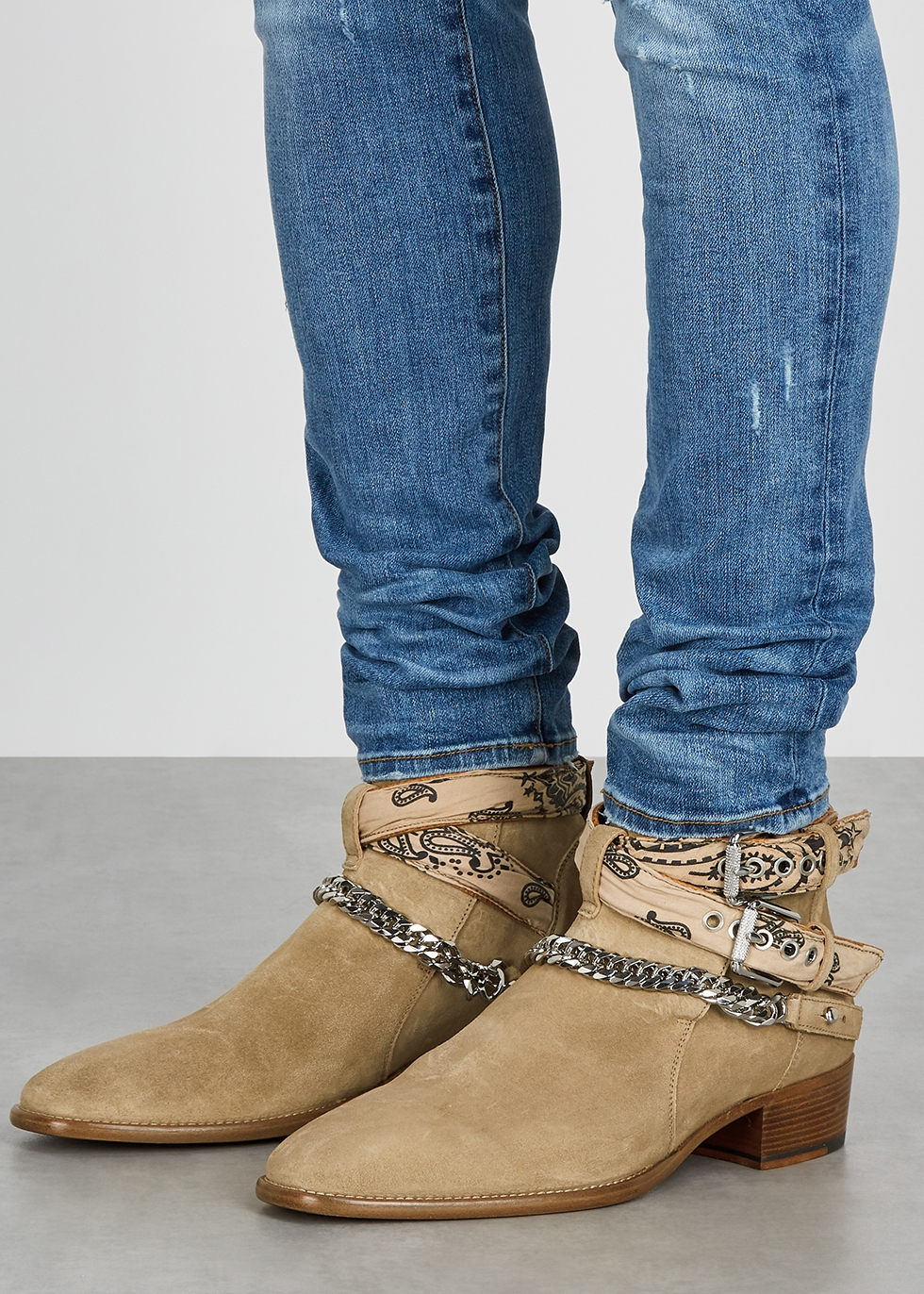 Strap Detail Ankle Boots, Taupe