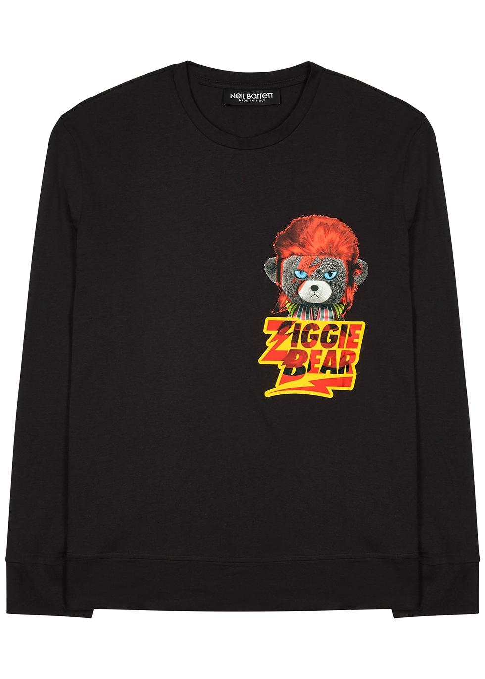 Ziggie Bear printed jersey top