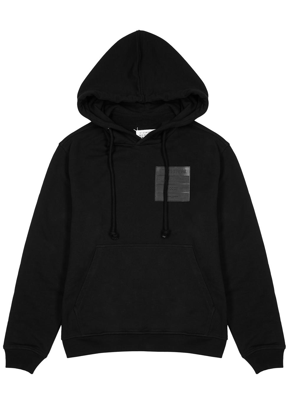 Stereotype black hooded cotton sweatshirt