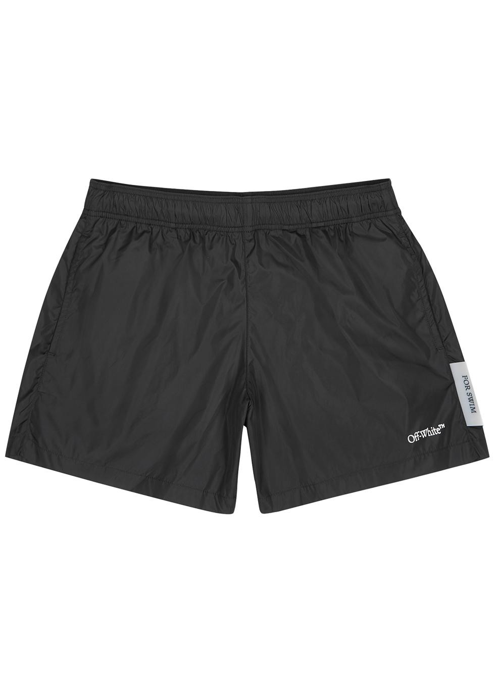 Black shell swim shorts