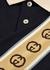 Navy GG-striped cotton polo shirt - Gucci