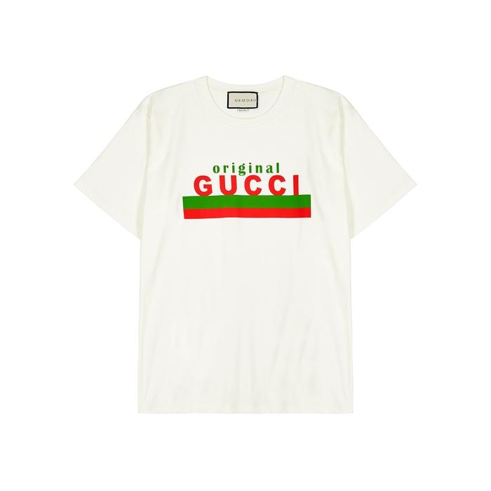 Gucci OFF-WHITE COTTON T-SHIRT