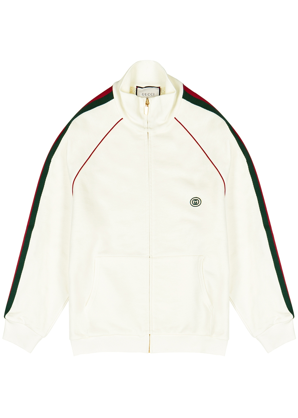 White cotton track jacket