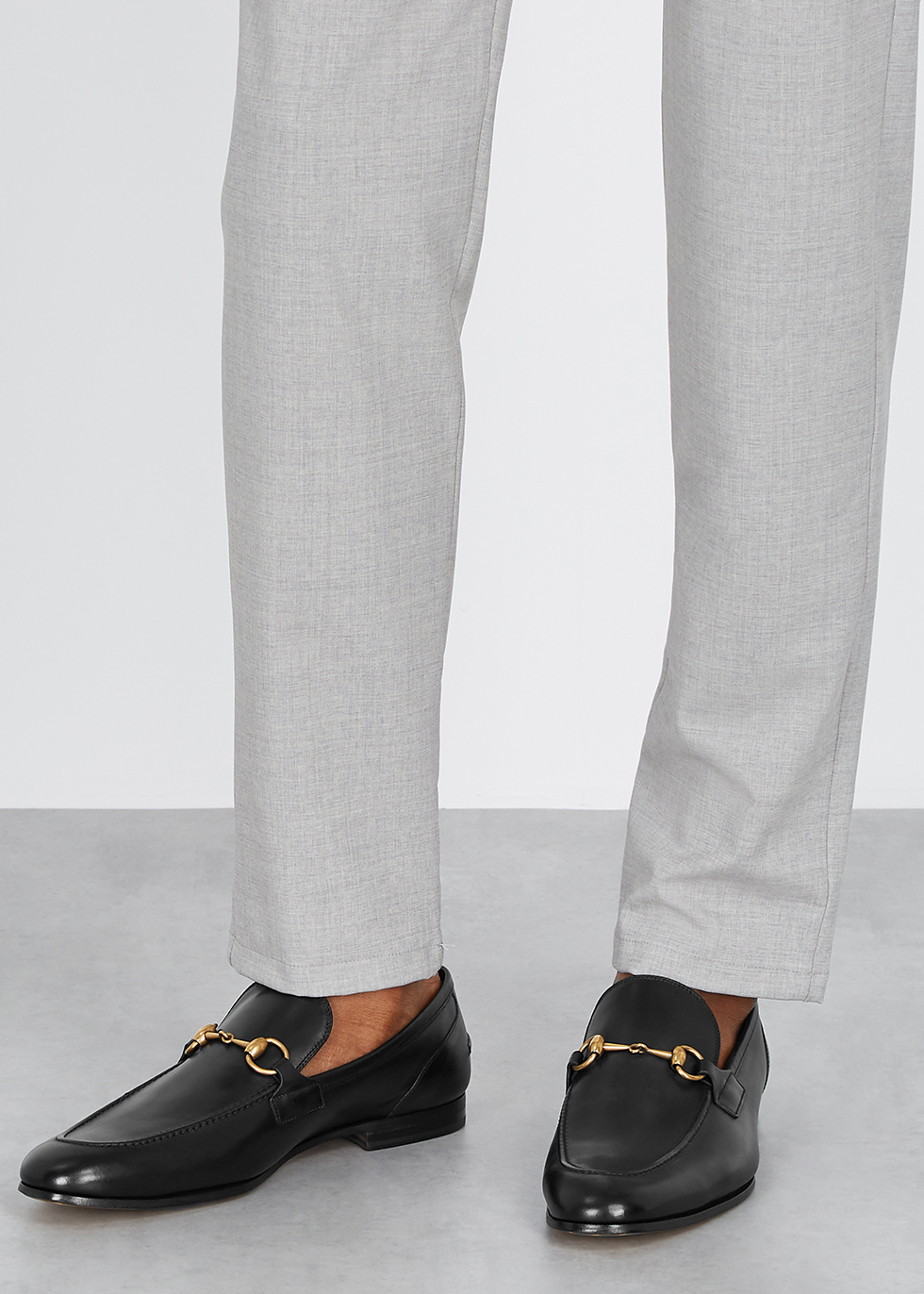 Gucci Jordaan black leather loafers
