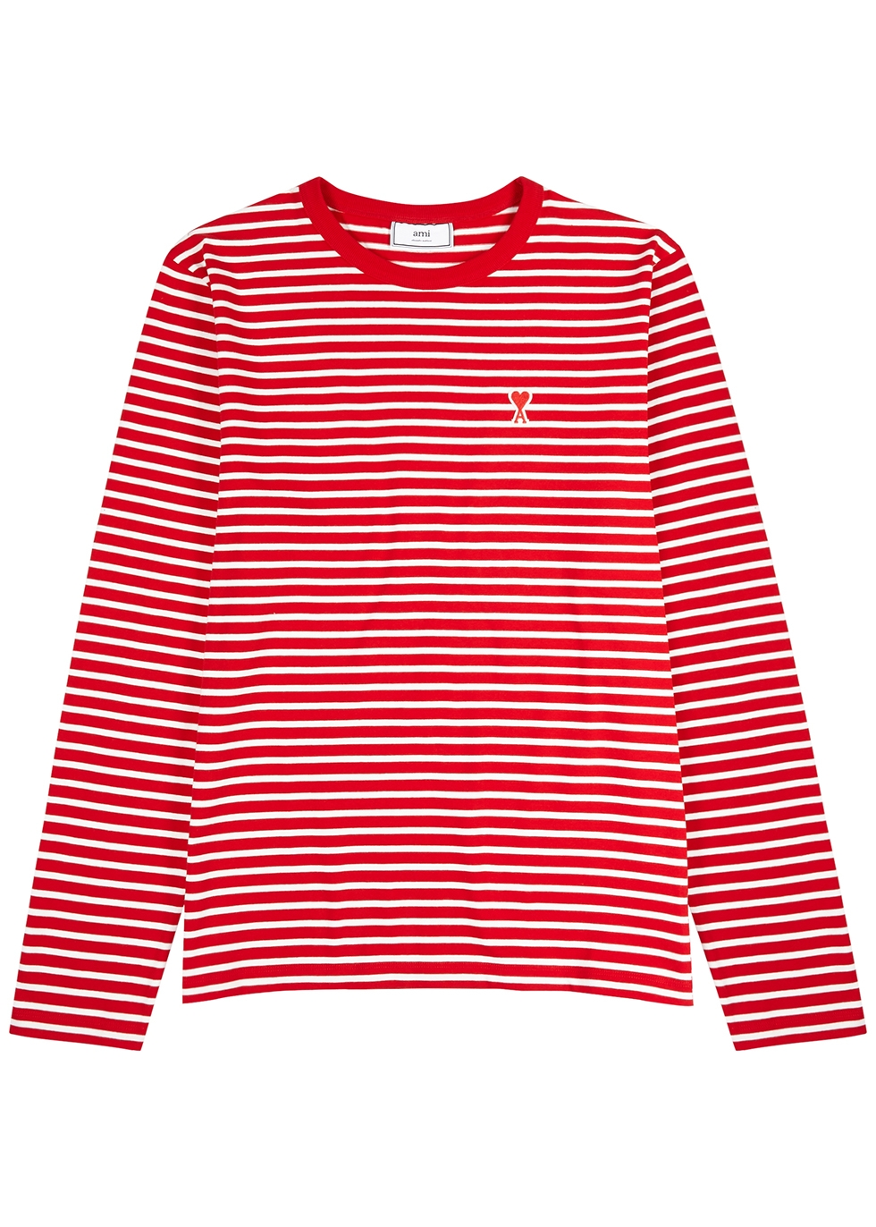 Red striped cotton top