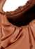 Palm brown leather top handle bag - STAUD