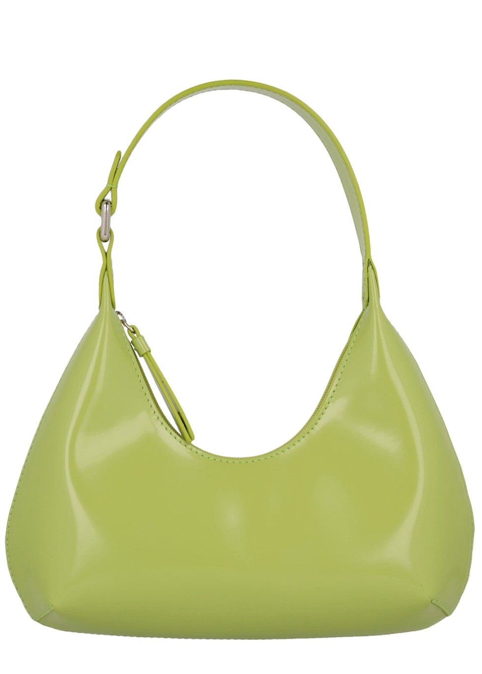By Far BABY AMBER GREEN LEATHER SHOULDER BAG