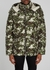 Blanc camouflage-print quilted nylon jacket - Moncler