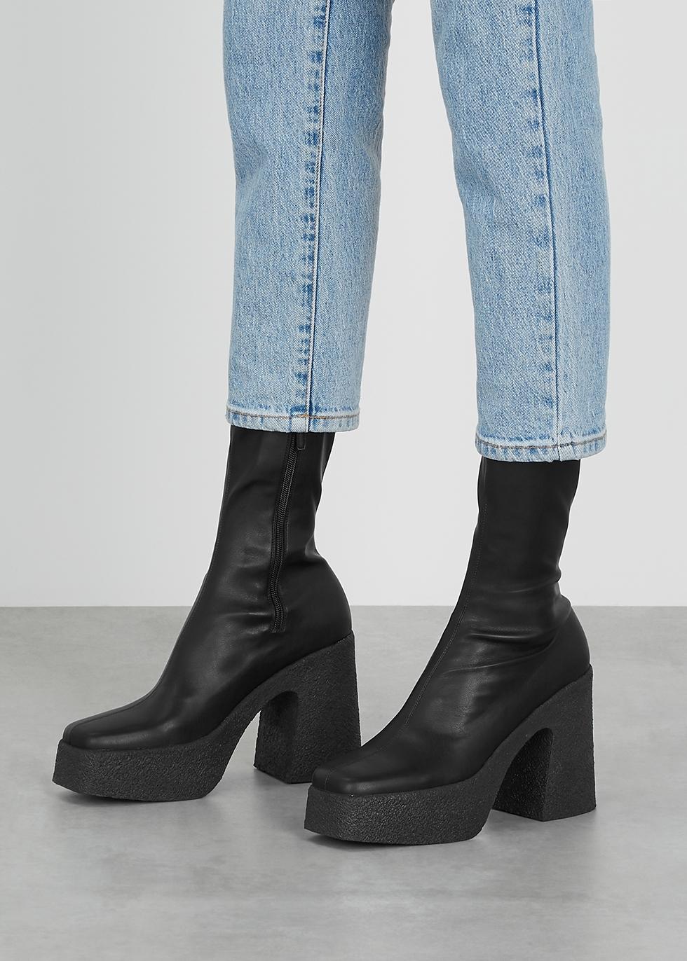 Stella McCartney 115 black faux leather