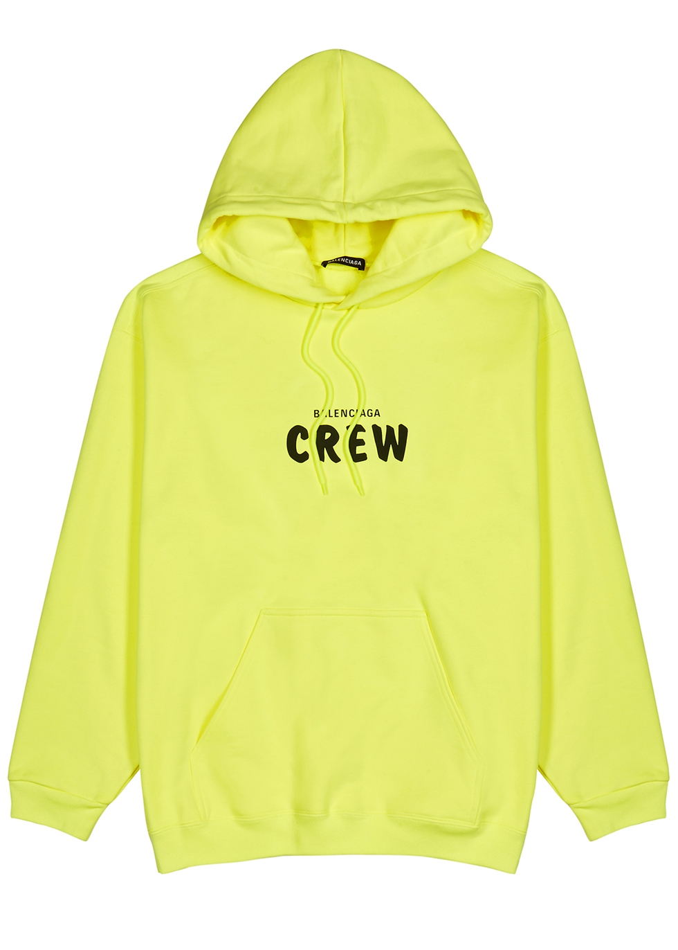 Balenciaga Crew neon yellow hooded