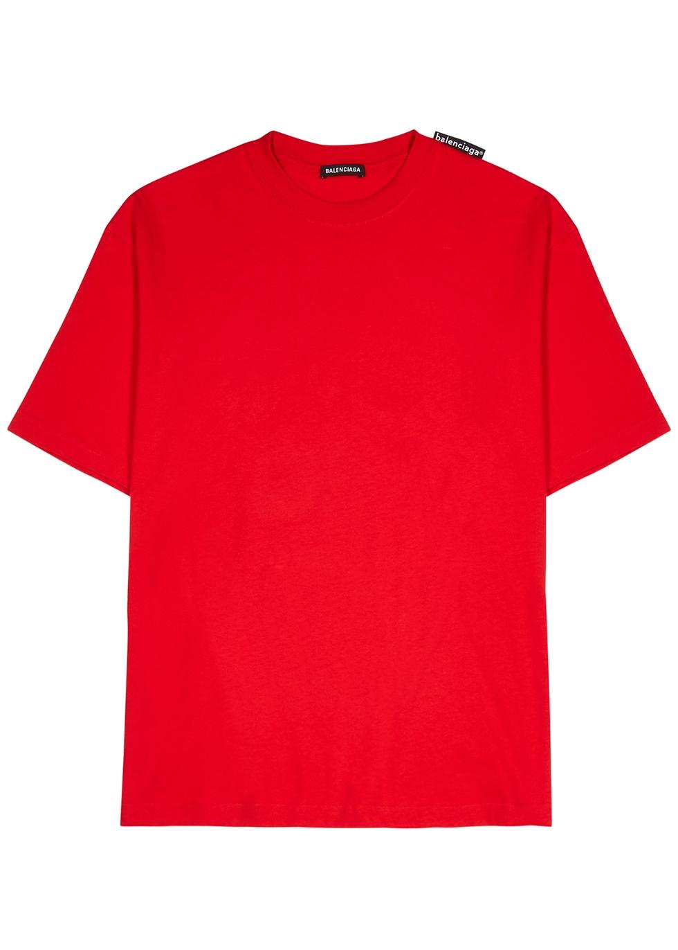 Red cotton T-shirt - Harvey Nichols