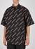 Black logo-print cotton shirt - Balenciaga