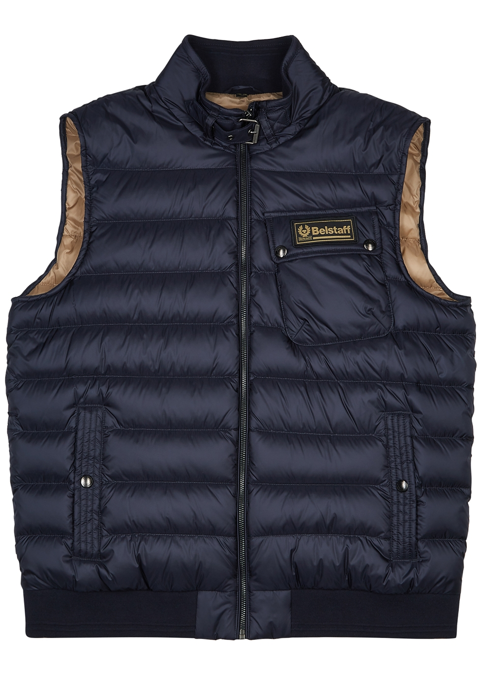 Streamline navy quilted shell gilet