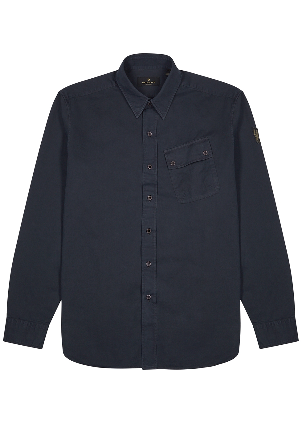 Pitch navy cotton shirt