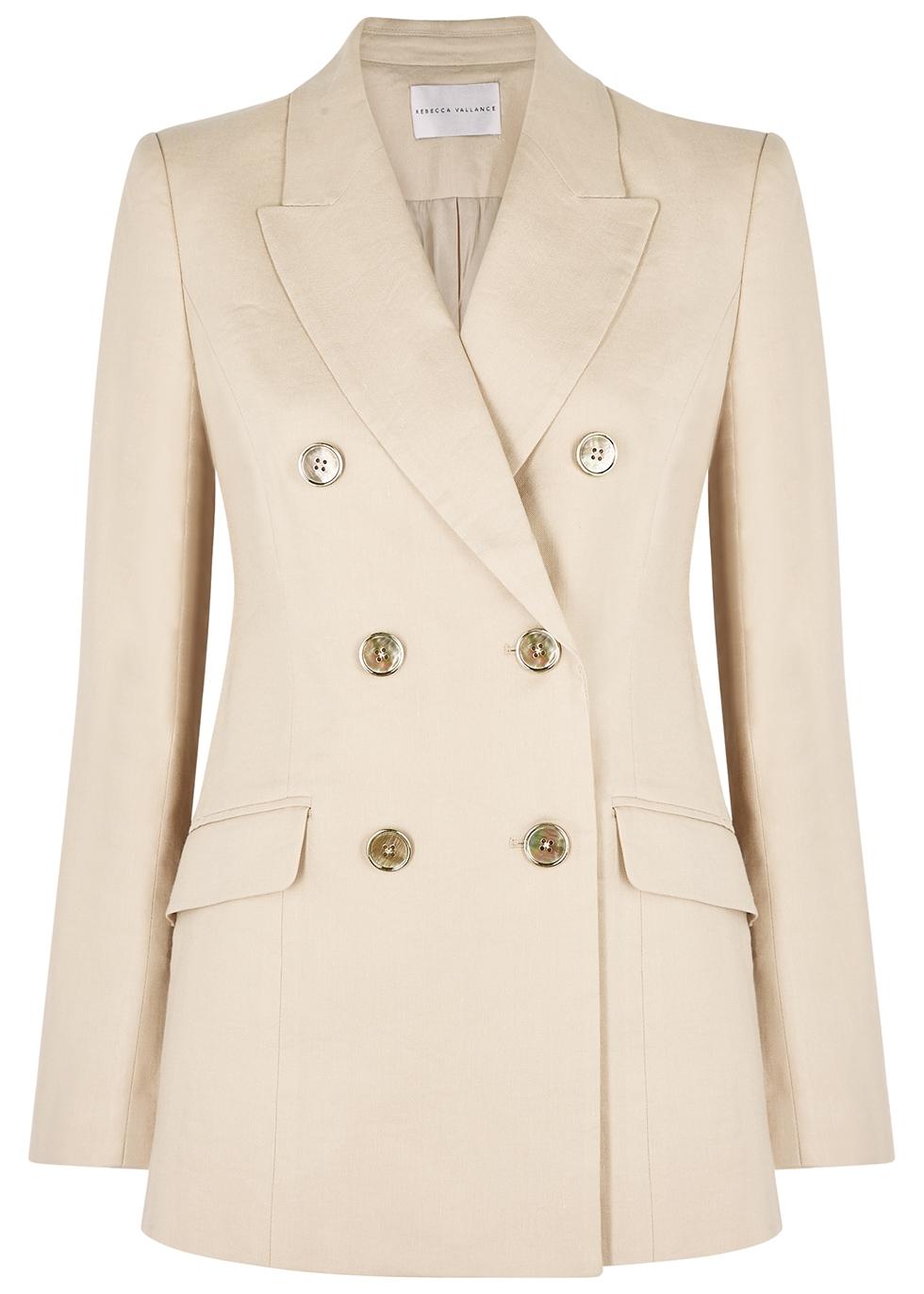 Mojito ecru linen-blend blazer