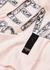 Pink logo-appliquéd cotton T-shirt - Fendi